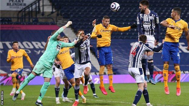 Richarlison scores Everton's winner against West Brom
