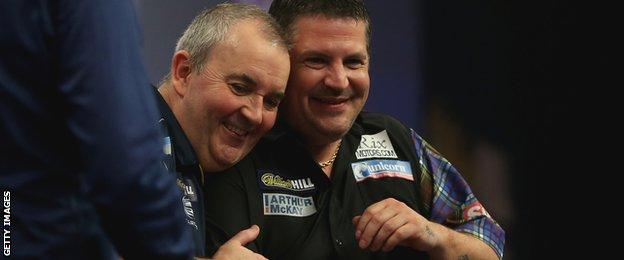 Phil Taylor and Gary Anderson