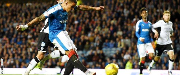 James Tavernier lashed in his seventh goal of the season for Rangers