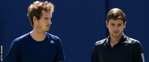 Andy Murray and Dani Vallverdu
