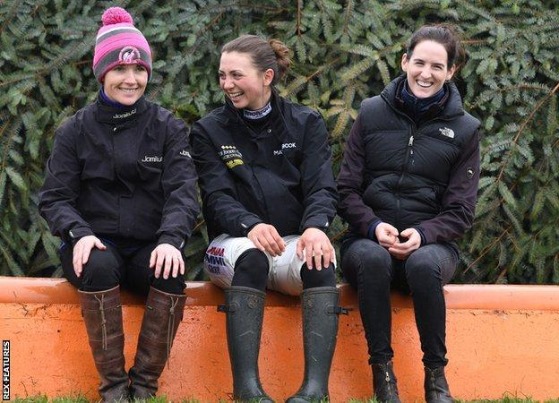 Katie Walsh, Bryony Frost and Rachael Blackmore