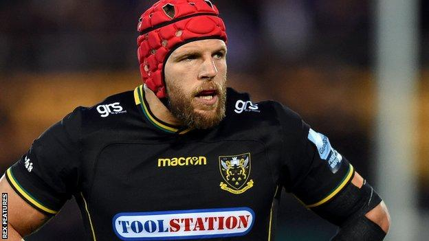 James Haskell in action for Northampton