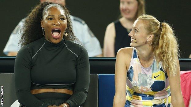 Serena Williams and Petra Kvitova