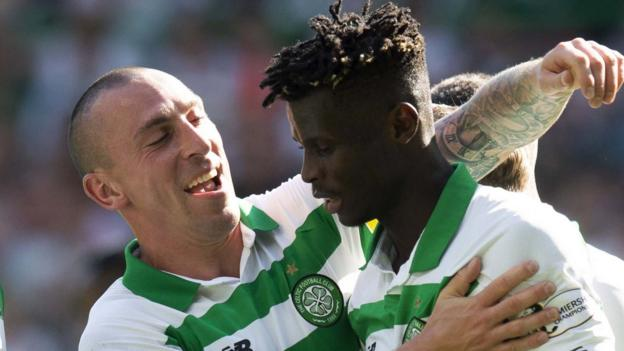 Bayo bags double as Celtic beat Hearts to maintain 100% league start