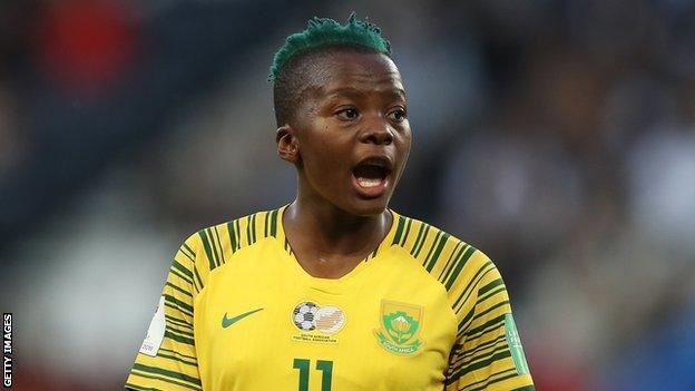 Chrestinah 'Thembi Kgatlana at the 2019 Women's World Cup