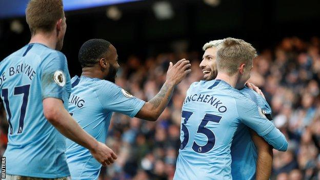 Aguero equalled the record of 11 Premier League hat-tricks