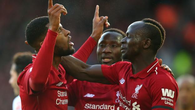 Liverpool 3-0 Bournemouth: Salah scores again as Reds regain Premier League lead thumbnail