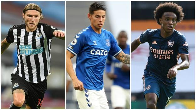 Jeff Hendrick (Newcastle), James Rodriguez (Everton), Willian (Arsenal)