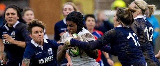 Scotland women v England women in 2014