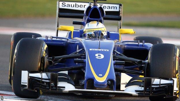 Sauber's Marcus Ericsson