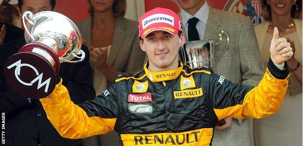 F1 driver Robert Kubic of Poland