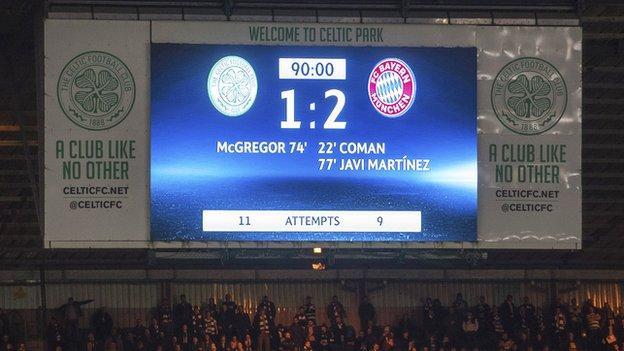 Celtic Park scoreboard