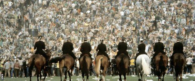 Rangers v Celtic in the 1980 Scottish Cup final