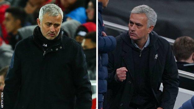 Jose Mourinho - son Manchester United maçında ve şimdi