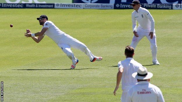 James Anderson drops Asad Shafiq