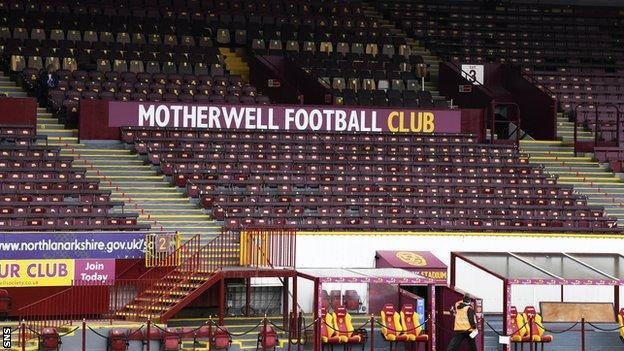 Motherwell haven't played since a 5-1 loss to Rangers on September 27