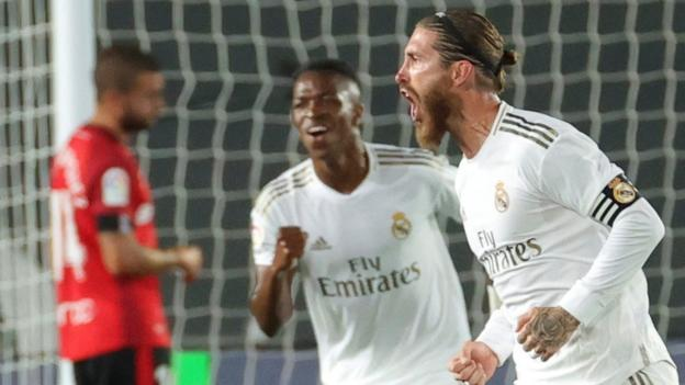 Real Madrid 2-0 Mallorca: Vinicius Junior and Sergio Ramos score thumbnail