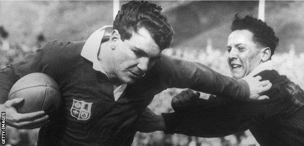 Tony O'Reilly in action for the Lions