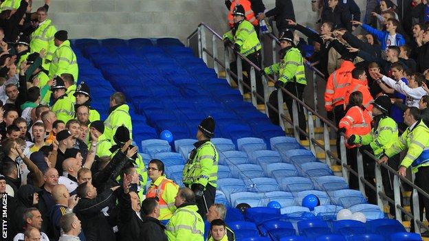 Cardiff City and Swansea City fans