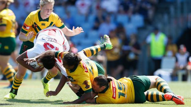 Women 39 s rugby league world cup england lose to australia biting claim dismissed bbc sport - English rugby union league tables ...