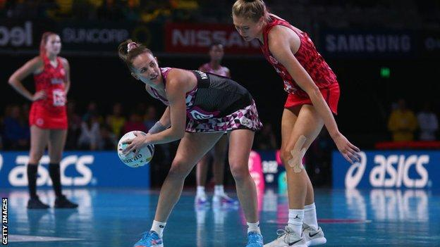 South Africa and England netball