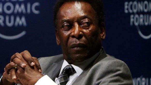 Pele pictured in 2018