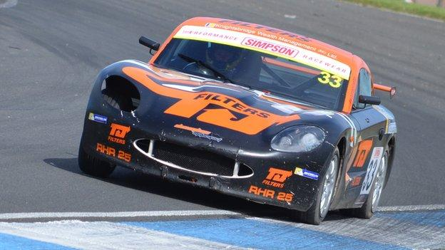 Dan Harper raced to victory in the Ginetta Junior series at the English circuit