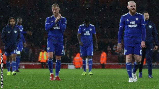 Cardiff City players dejected