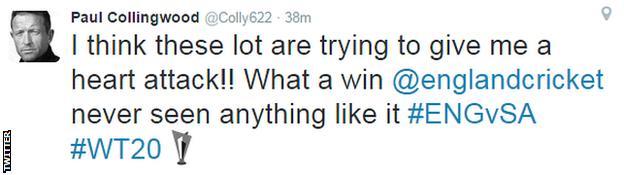 Paul Collingwood on Twitter