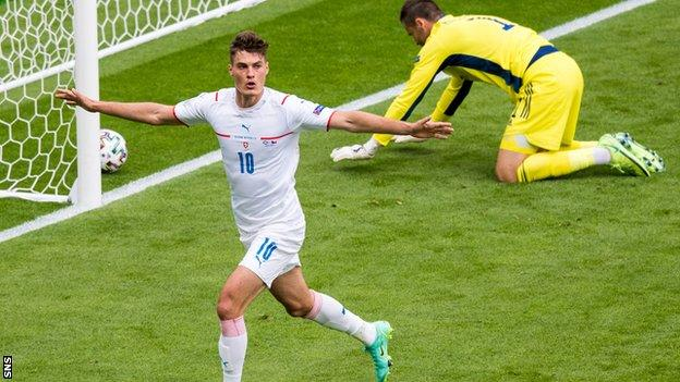 Patrik Schick's Hampden double condemned Scotland to an opening defeat