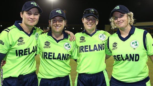 End of an era - Shillington, Isobel Joyce, Cecelia Joyce and Ciara Metcalfe after playing their final Ireland game in 2018