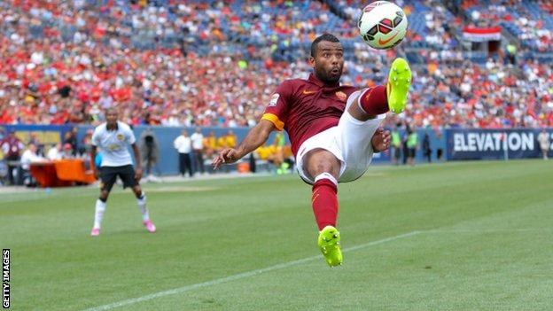Former Chelsea and England defender Ashley Cole in action for Roma