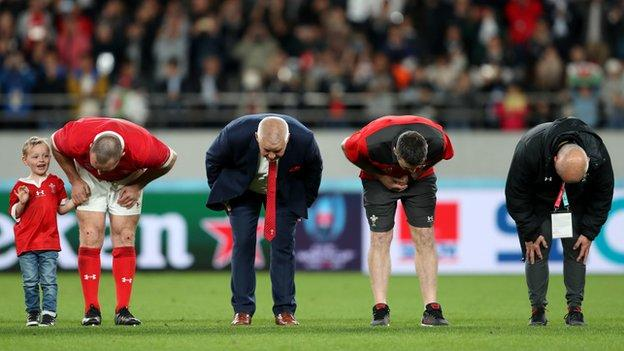 Warren Gatland after his final game in charge of Wales