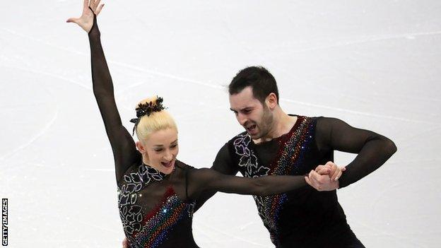 Great Britain's Zoe Jones and Christopher Boyadji