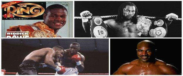 Riddick Bowe, Lennox Lewis, Evander Holyfield, Buster Douglas and Mike Tyson