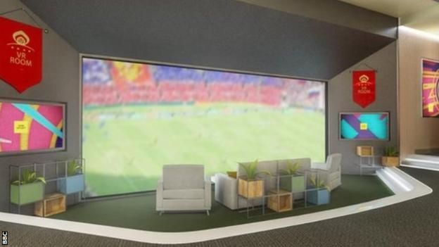 Fans will be able to watch every match broadcast by the BBC from the corporation's virtual reality sofa
