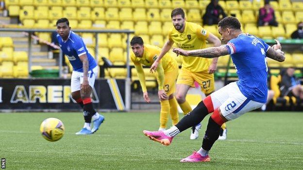 James Tavernier scores a penalty