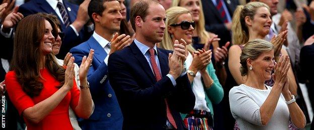 Catherine, Duchess of Cambridge, Prince William, Duke of Cambridge and Sophie, Countess of Wessex