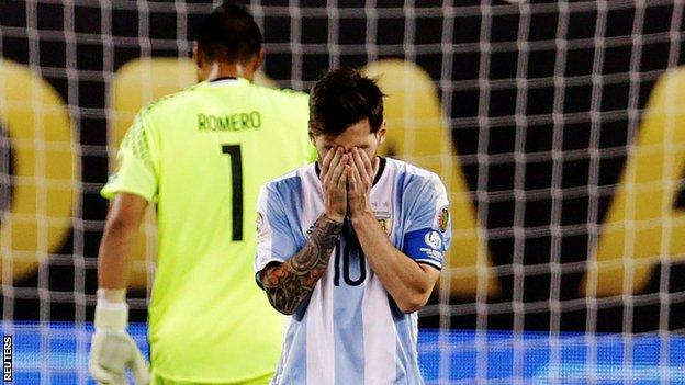 Messi after the match