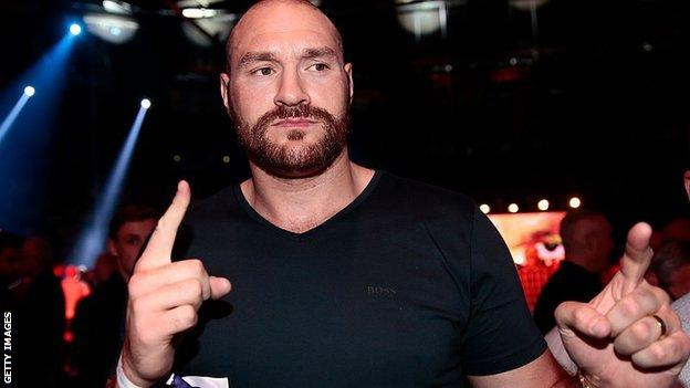 Fury has not fought since 2015 and still has a suspended licence