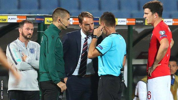 Fifa's new measures were enacted in England's win in Bulgaria