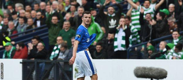 Celtic fans took great joy in Halliday's substitution before half time