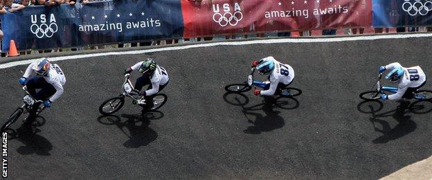 USA's Olympic BMX team