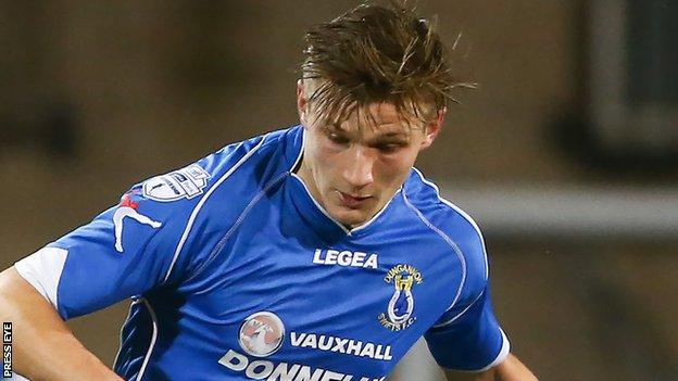 Andy Mitchell of Dungannon Swifts