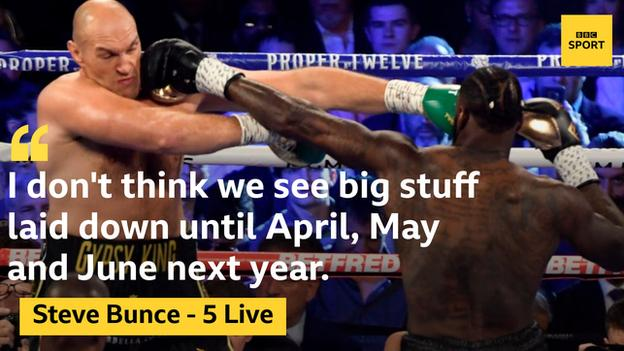 Steve Bunce believes big fights are some time away while promoter Bob Arum says Fury v Wilder III faces challenges