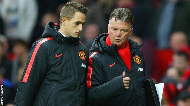 Adnan Januzaj and Louis van Gaal