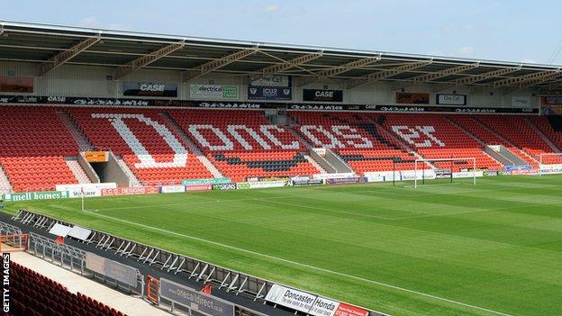 Doncaster Rovers' Keepmoat Stadium