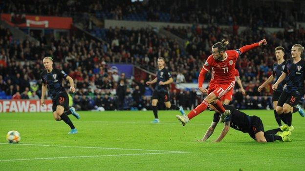 Gareth Bale scored the equaliser in Croatia