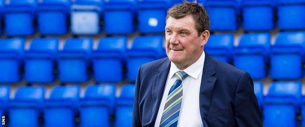 Tommy Wright at McDiarmid Park