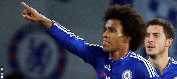Chelsea's match-winner Willian
